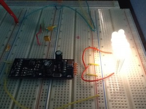 driver board with test LEDs